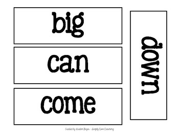 Dolch's Pre-Kindergarten Sight Words: Word Wall Companion
