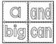 Dolch sight word PK set 1