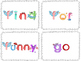 Dolch sight word phonic letter sound flash cards - Pre Primer list