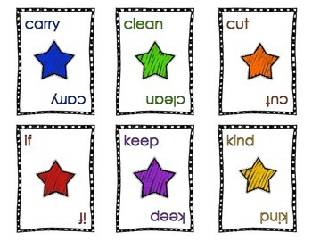 Dolch sight words game cards Grade 3
