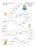 Dolch sight words minion games