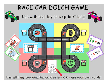 Dolch word Race car Game