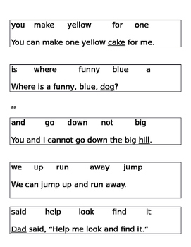 Dolch word activities