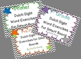 Dolch word practice for SMART board (over 100 slides)