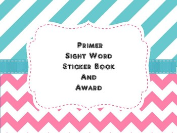 Dolch words primer sticker book