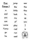 Dolche Sight Word Student List Sheets
