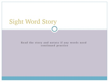 Dolche Sight Words set 1 and 2 flash cards and story