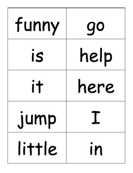 Dolche Word Cards