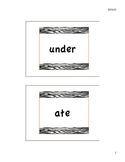 Dolch's Kindergarten Sight Word Flash Cards - Zebra Accent