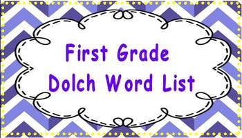 Dolch sight words (Pre-primer, primer, first grade)