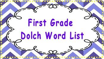 Dolch sight words (Pre-primer, primer, first grade)