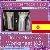 Doler worksheet and notes: Avancemos 1 6.2