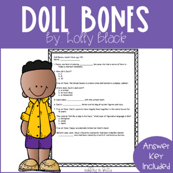 Doll Bones Quick Comprehension Quiz Checks