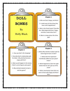 Doll Bones by Holly Black  - Discussion Cards