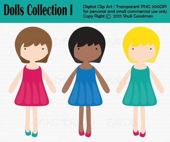 Doll Kids clip art