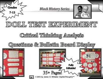 Doll Test Experiment High Order Thinking Analytical Questi