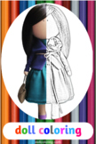 Doll coloring Printable coloring page Downlodable coloring