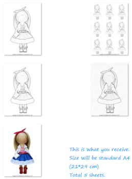 Doll coloring Printable coloring page Downlodable coloring Kids coloring