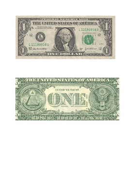 Dollar Bill Activity