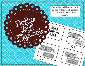 Dollar Bill Flipbook / Money Interactive Notebook / Center