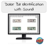 Dollar Bill Identification Boom Cards with Sound!