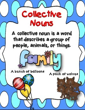 Dollar Deal! 40 Collective Nouns Task Cards {2nd and 3rd} Common Core