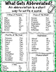 Dollar Deal! Abbreviations {40 Task Cards} Scoot, Scavenge