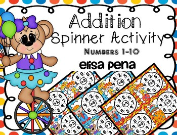 Addition Spinner Center Activity