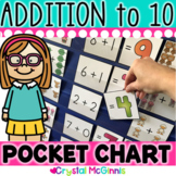 DOLLAR DEAL! Addition Pocket Chart Center (Sums to 10)