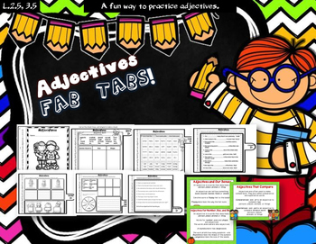 Dollar Deal! Adjectives Fab Tabs!