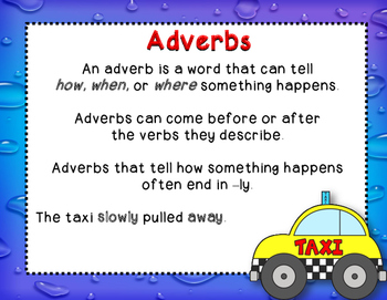 Dollar Deal!  Adverbs Fab Tab!