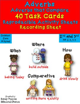 Dollar Deal! Adverbs Task Cards! {40 Cards} 2 Interactive Notebook Pages!