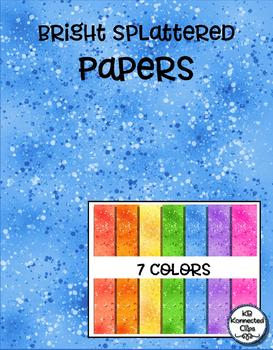 Dollar Deal! Bright Splattered Papers
