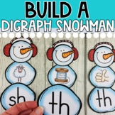 DOLLAR DEAL! Build a Digraph Snowman (Literacy Center Activity) CH, SH, TH, WH
