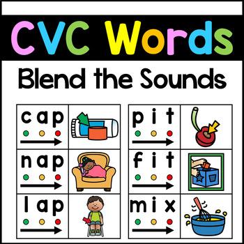 Dollar Deal - CVC Activities Kindergarten - CVC Blending Cards