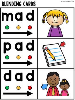 CVC Activities Kindergarten - CVC Blending Cards