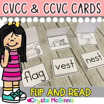 DOLLAR DEAL! Large CVCC & CCVC Word Cards (Read, Flip, and