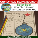 Color By Numbers Christmas Math Multiplication - Dollar Deal