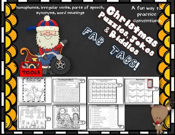 Dollar Deal!  Not Just...Christmas Jokes, Puzzles, and Riddles! Fab Tabs!