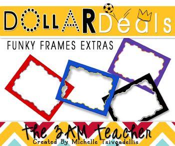 a92b6ccc00b7 Dollar Deal Clip Art  4 Funky Frame Primary Colors by The 3am Teacher