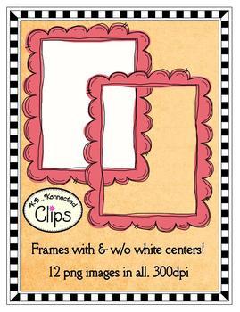 Dollar Deal! Clip Art - Citrus Inspired Doodle Frames