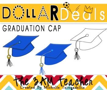 Dollar Deal Clip Art: Graduation Cap