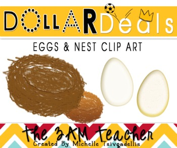 Dollar Deal Clip Art: Nest & Eggs