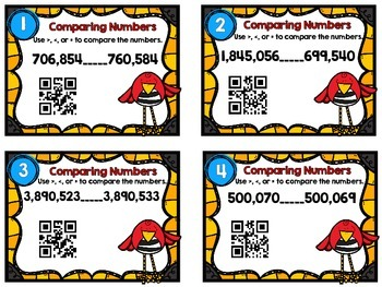 Dollar Deal-Comparing Larger Numbers -12 Task Cards-With and Without QR Codes
