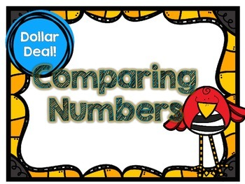 Dollar Deal-Comparing Larger Numbers -12 Task Cards-With a