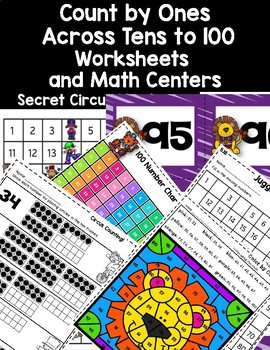 Dollar Deal! Count by Ones Across Tens to 100 Worksheets and Math Centers