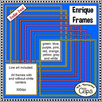 Dollar Deal! Enrique Square Frames - Ink Savers!!!