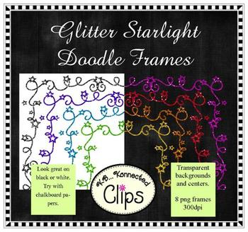 Dollar Deal! Glitter Starlight Doodle Frames