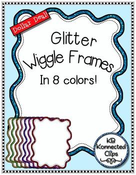 Dollar Deal! Glitter Wiggle Frames