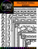 Halloween Doodle Borders {Creative Clips Digital Clipart}